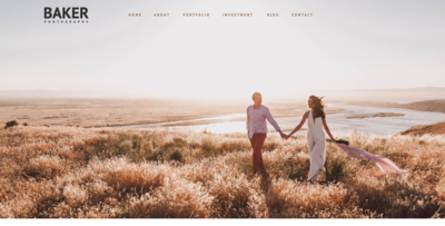 Adventure Elopement Photography Website Template