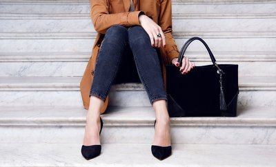 Woman on Steps in Heels