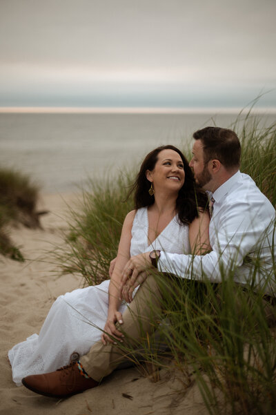 Elopement Minimony on Cape Cod at Crosby Landing Beach