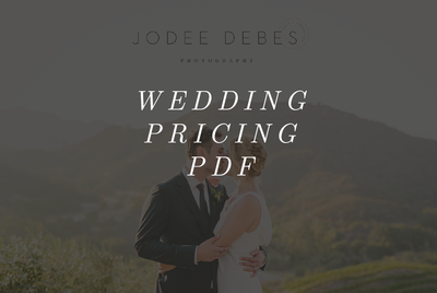 Wedding Pricing PDF Hover