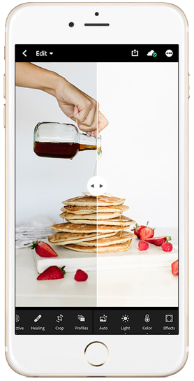 iPhone mock up Food Love