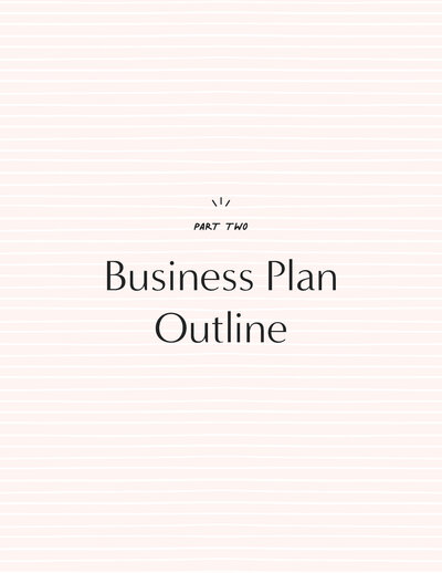 Business Plan Outline & Guide From Candice Coppola - 2021-7