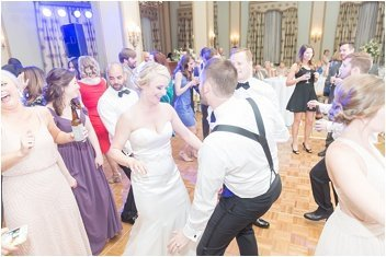 dance floor at a wedding at The Westin Poinsett