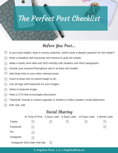 The Perfect Post Checklist
