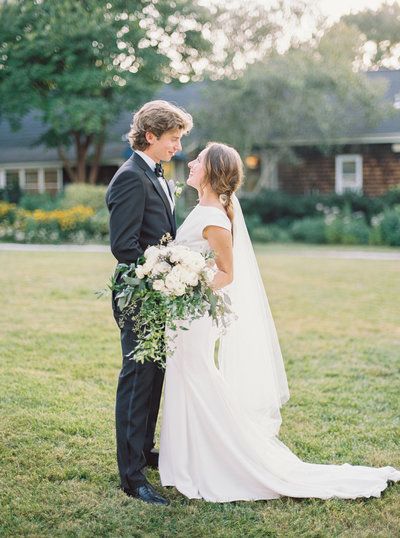 Classic summer blue and sage wedding held at London Town & Gardens in Edgewater, Maryland.