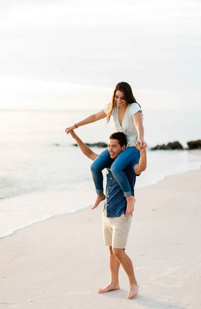 seagate naples beach florida engagement photos