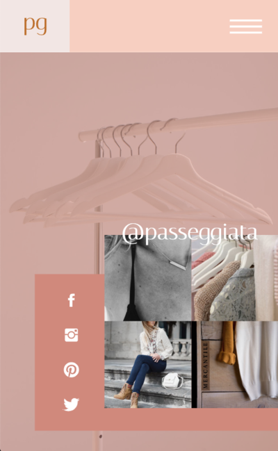 Passeggiata Showit Website Template Mobile Footer