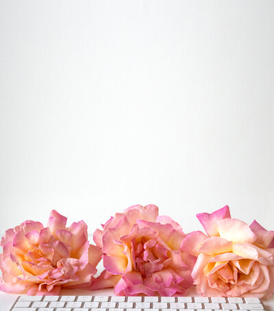 key_board_pink_roses