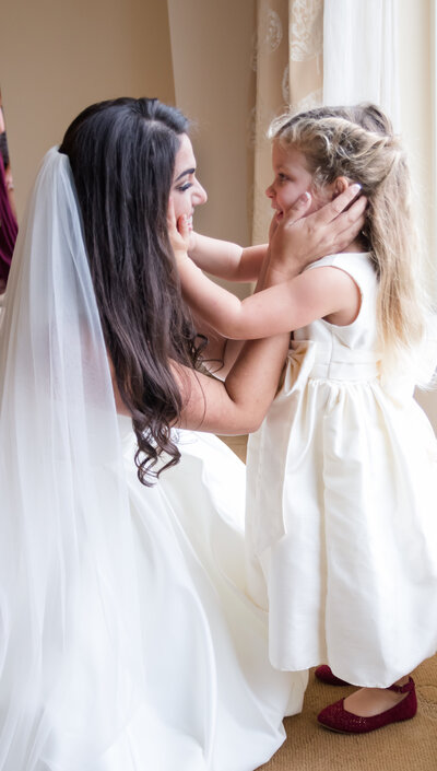 orlando family photographer bride and flower girl