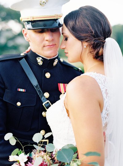 Military wedding portrait by Natalie Jayne Photography