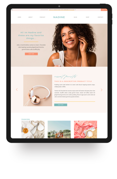 Showit Website Template- Nadine | Viva la Violet