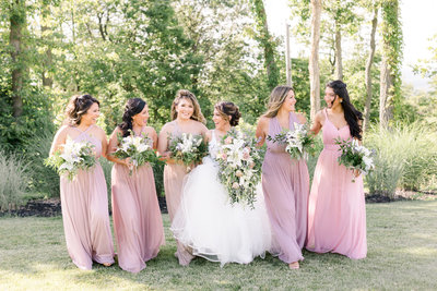 wedding photos of bridesmaids at Blue Mountain Resort
