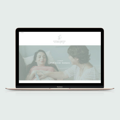 Handcrafting Heartfelt Brand & Website Designs for Female Creatives |  Showit | Showit Templates | by Viva la Violet | Gentle Landing Midwifery