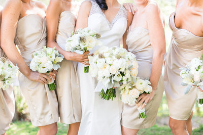 Paso Robles Wedding Photographer White Bridesmaid Bouquets