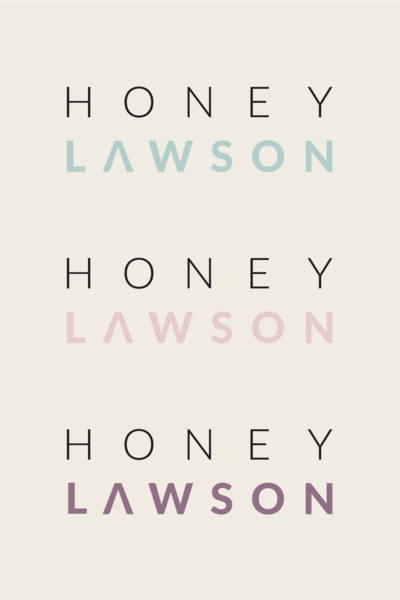 Honey Lawson Divisional Logos | Health Coach Branding and Website Design