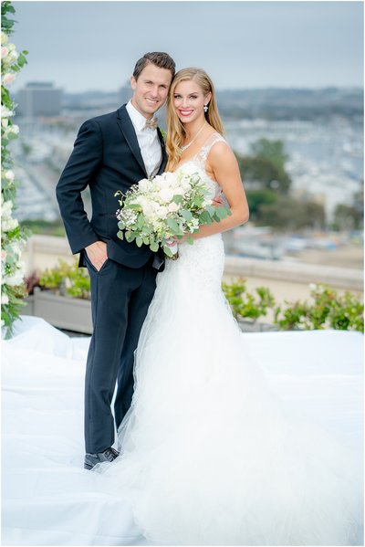 Marina del Rey Marriott wedding Taylor Kalupa and David Nurse