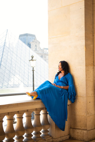 Celebrating the trip to Paris with a photoshoot  with Shantha Delaunay