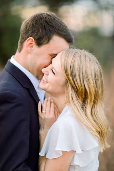 A Winston-Salem wedding and engagement photographer captures an engagement photography session.
