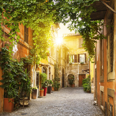 Old street in Trastevere