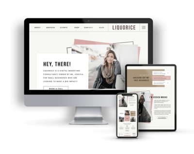 Liquorice is a Showit Website Template