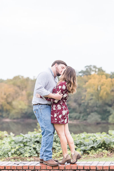 fall engagement session - selma, alabama - alabama river