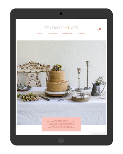 food photographer and blogger squarespace website