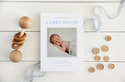 Letterpress-Birth-Announcement-blue-dot-border-2000