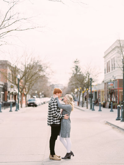 Karli and David's Engagement Photos in Hyde Park Boise Idaho