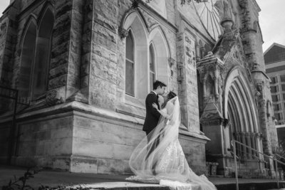 asian wedding photographer st mary cathedral bride groom