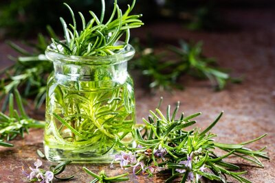 make your own rosemary vinegar