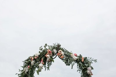 Saltwater Farm Vineyard wedding ceremony