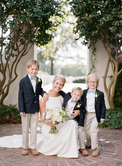 Charlotte bride with ringbearers