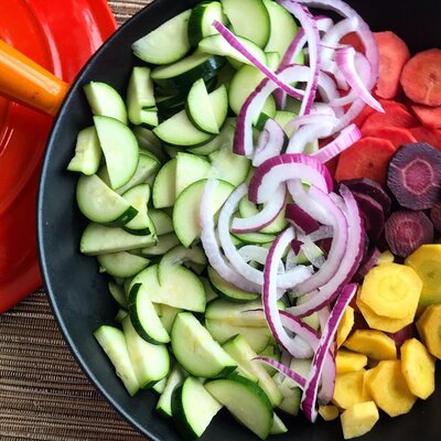 sliced vegetables for stir fry vegan meals
