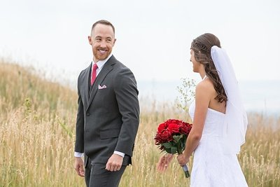 Denver wedding photographer - First look with Nichole Emerson - Denver wedding photographer
