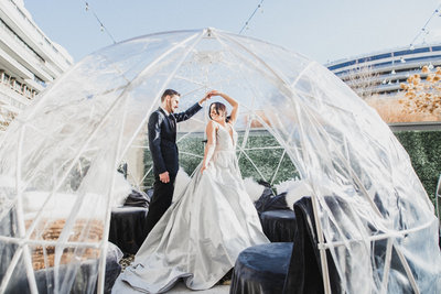 M Harris Studio - Bride and Groom Igloo