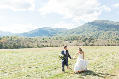 Genuine wedding photos  in Charlottesville, Virginia.