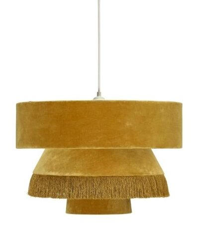 Mustar Velvet Fringe Lighting