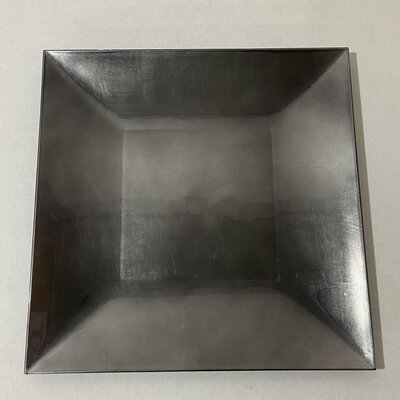 pewter square charger plate
