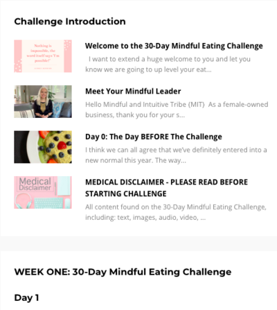 30 Day Mindful Eating Challenge Program