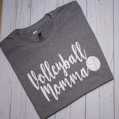 Volleyball Momma Grey Shirt