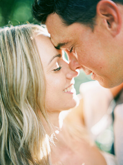 Bride & Groom almost kissing pose - Up close of Couple
