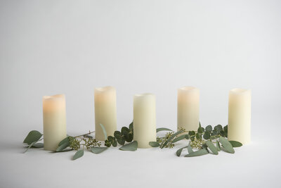Flameless Pillar Candles Rental