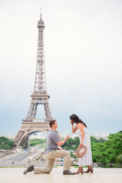 Paris proposal of Codie and Shelly captured by Paris photographer Shantha.