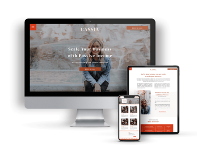 Cassia is a Showit Website Template