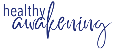 healthy awakening logo blue