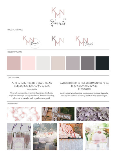 KMN Event Designer Branding and Web Design