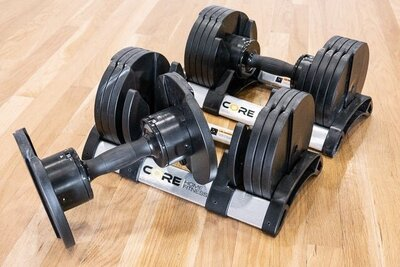 core home fitness adjustable dumbbells