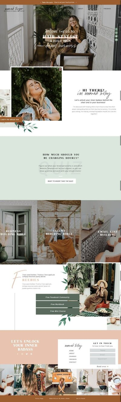 The Wild & Free Website Template - Customized by Bold x Boho, a Web Template Shop for Soulpreneurs