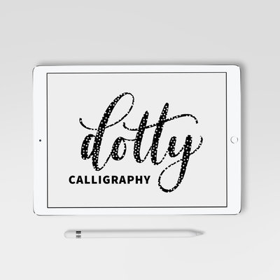 dotty calligraphy square