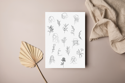 boho illustration mockup